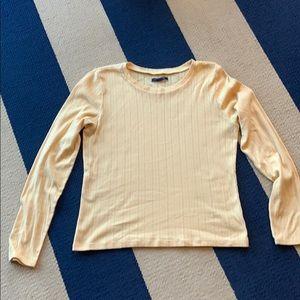 American Eagle soft yellow shirt never worn L